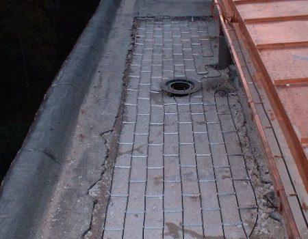 Grijanje oko vodolovnog grla betonirane krovne ploče