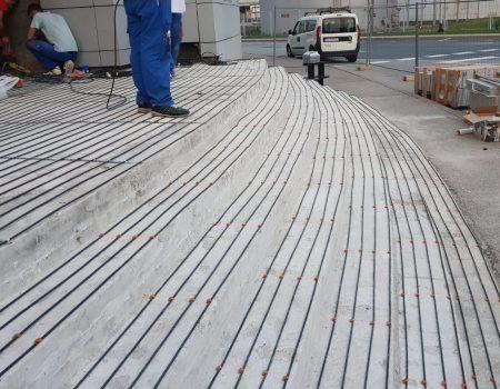 Ugradnja grijaćih kabela na stepenice