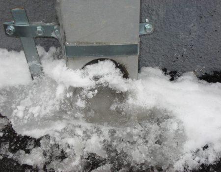 Zamrznut izljev vertikale
