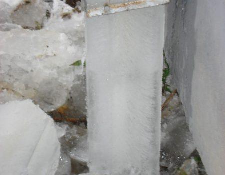 Zamrznut vertikalni odvod