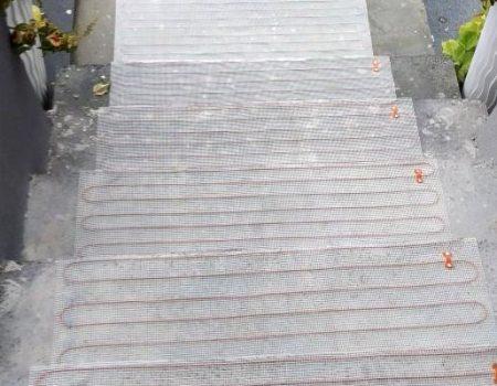 Ugradnja tanke grijaće mrežice na stepenice i podeste