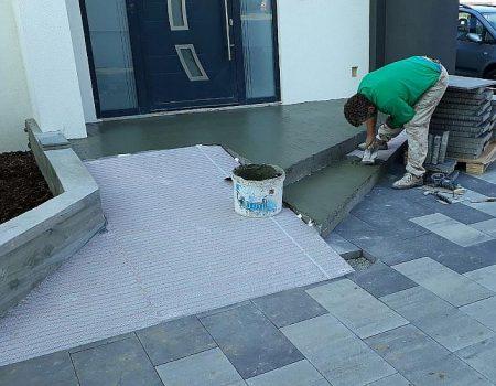 Zaštita tanke grijaće mežice fleksibilnim građevinskim ljepilom
