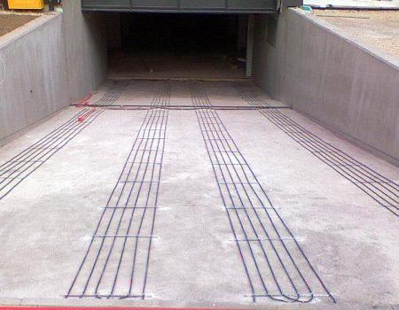 Ugradnja grijaćih kabela u kolotrage garažne rampe