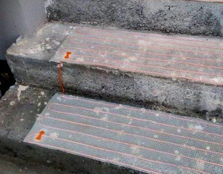 Ugradnja tanke grijaće mrežice na stepenice