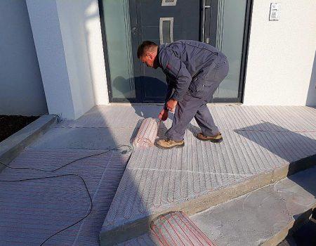 Ugradnja tanke grijaće mrežice na stepenice, podeste i rampu